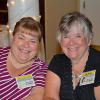 Classmates Pat Snover and Linda Kissell.