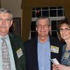 Classmates Larry Mead, Bill Zeeb and Sharon Wagner-Mead